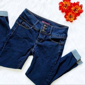 wax jean butt, i love you push-up high rise skinny jeans
